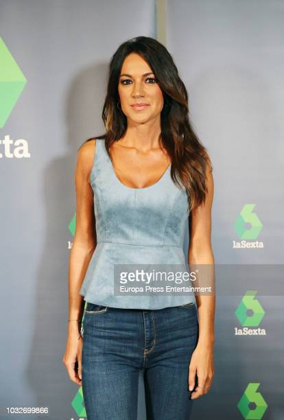 Cristina Saavedra attends the presentation of the new season of 'La Sexta' Tv channel on September 12 2018 in Madrid Spain