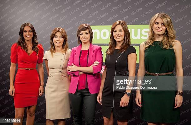 Cristina Saavedra Helena Resano Cristina Villanueva Mamen Mendizabal and Diana Mata poses for photographers during 'La Sexta' Tv Channel New season...