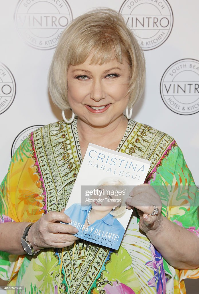 Cristina Saralegui attends her book launch at Vintro Hotel on October 23, 2014 in Miami, Florida.