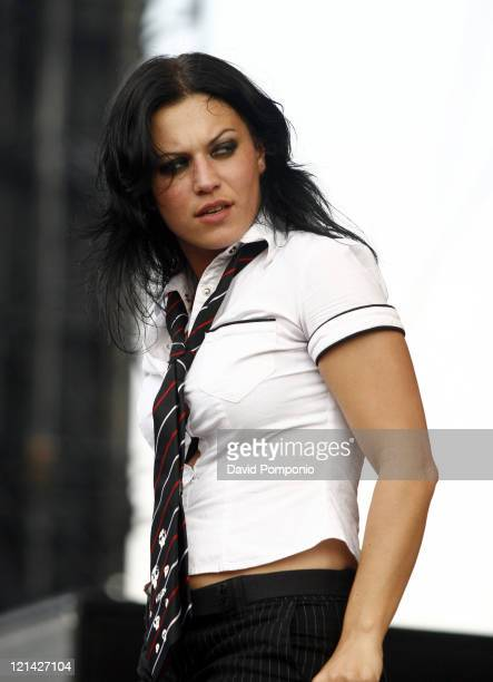 Cristina Scabbia of Lacuna Coil during Ozzfest 2006 July 29 2006 at Randall's Island in New York City New York United States