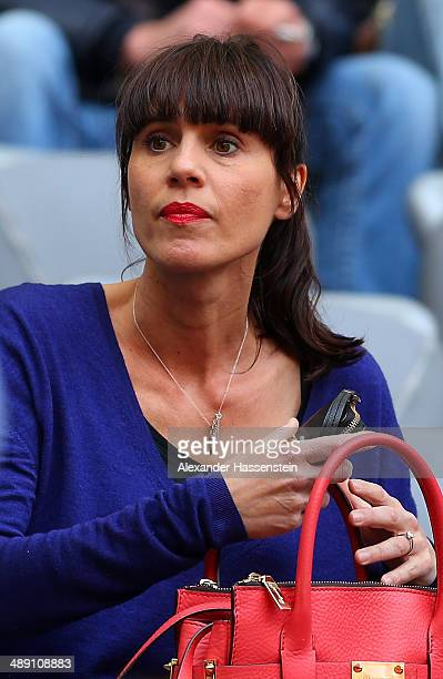 Cristina Serra the wife of Bayern Muenchen head coach Pep Guardiola looks on prior to the Bundesliga match between Bayern Muenchen and VfB Stuttgart...