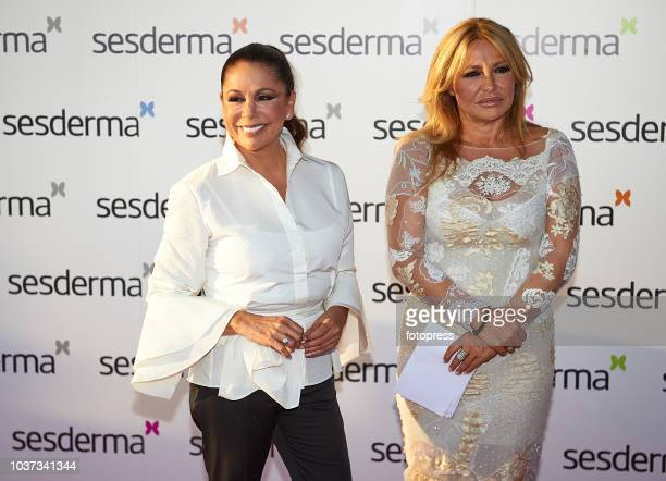 Cristina Tarrega and Isabel Pantoja attend Sesderma Cosmetic opening on September 21 2018 in Valencia Spain