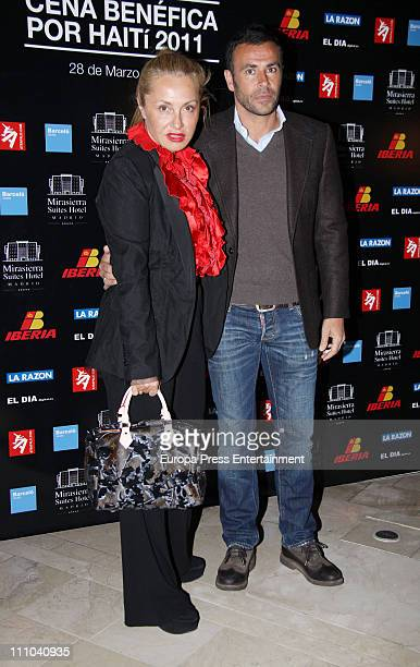 Cristina Tarrega and Mami Quevedo attend charity dinner for Haiti at Mirasierra Suite Hotel on March 28 2011 in Madrid Spain