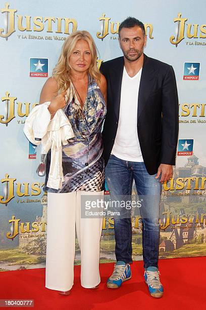 Cristina Tarrega and Mami Quevedo attend 'Justin and the knights of valour' premiere at Kinepolis cinema on September 12 2013 in Madrid Spain