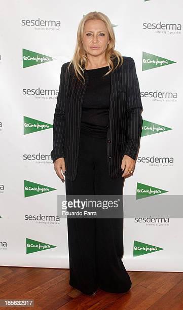 Cristina Tarrega attends genital rejuvenation gel 'Nanocare' press conference at El Corte Ingles store on October 23 2013 in Madrid Spain