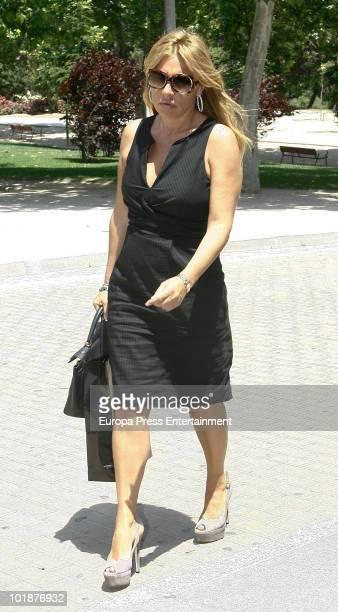 Cristina Tarrega attends the funeral chapel for the Spanish businessman Jose Luis GarciaCereceda at San Isidro morgue on June 7 2010 in Madrid Spain