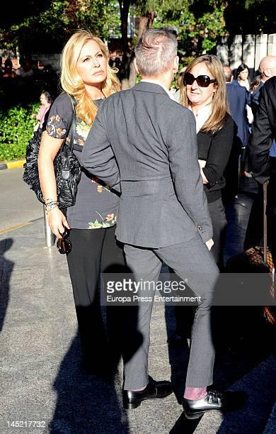 Cristina Tarrega attends the funeral of president of Real Madrid Florentino Perez's wife Pitina Sandoval at La Almudena crematorium on May 23 2012 in...