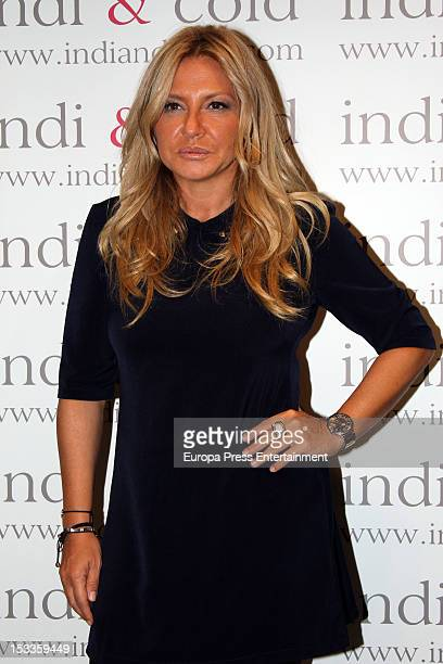 Cristina Tarrega attends the opening of 'Indi Cold' shop on October 3 2012 in Madrid Spain