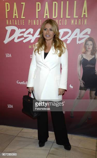 Cristina Tarrega attends the premiere of 'Desatadas' at the Capitol theatre on January 19 2018 in Madrid