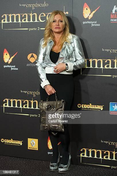 Cristina Tarrega attends the The Twilight Saga Breaking Dawn Part 2 premiere at the Kinepolis cinema on November 15 2012 in Madrid Spain