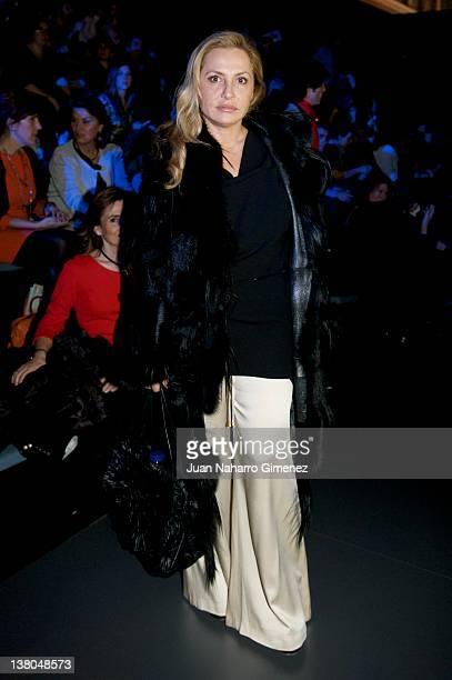 Cristina Tarrega attends Vitorio Lucchino show during MercedesBenz Fashion Week Madrid A/W 2012 at Ifema on February 1 2012 in Madrid Spain