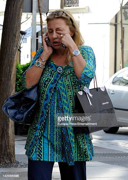 Cristina Tarrega is seen on March 28 2012 in Madrid Spain