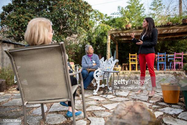 Cristina Tzintzún Ramirez speaks at the home of Ana SalasPorras in Austin Texas on Sunday Jan 13 2020 Ramirez who considers herself true progressive...