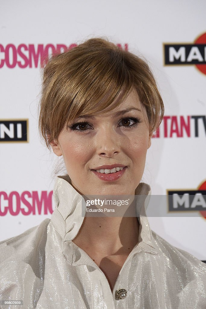 Cristina Urgel attends the Cosmopolitan - Fragance of the Year photocall at Lara Theatre on May 17, 2010 in Madrid, Spain.