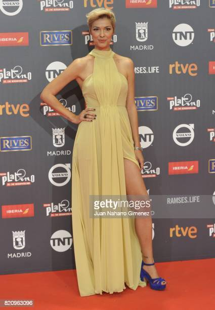 Cristina Urgel attends the 'Platino Awards 2017' photocall at La Caja Magica on July 22 2017 in Madrid Spain