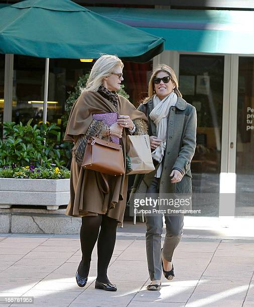 Cristina Valls Taberner her mother Christina Muls and a friend are seen on November 7 2012 in Madrid Spain