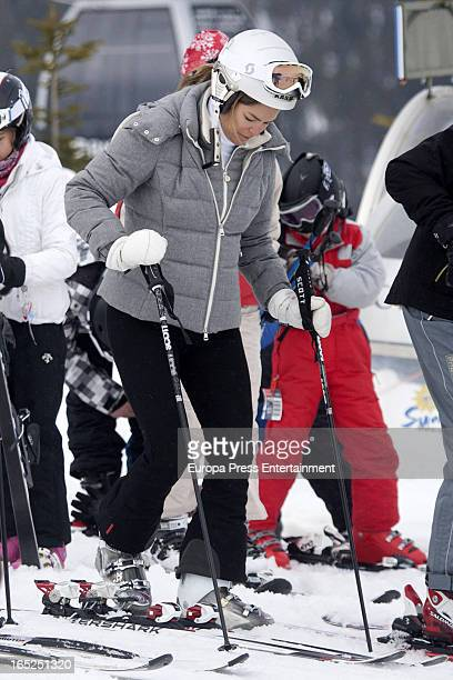 Cristina Valls Taberner is seen on March 23 2013 in Baqueira Beret Spain