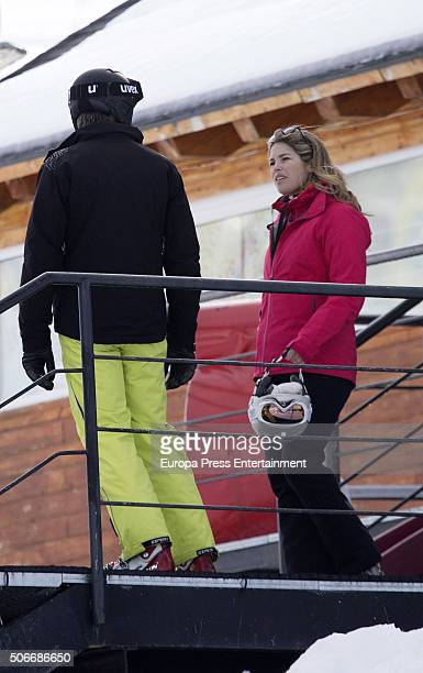 Cristina VallsTaberner and Francisco Reynes are seen on January 23 2016 in Baqueira Beret Spain