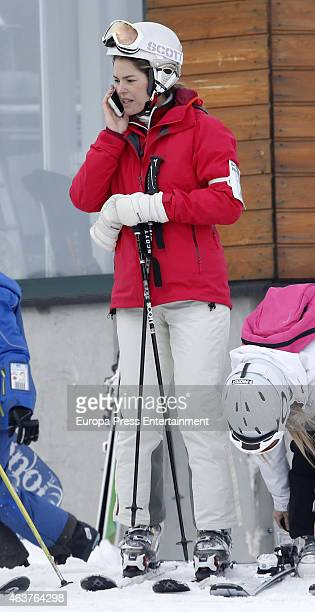 Cristina VallsTaberner and Francisco Reynes is seen on February 14 2015 in Baqueira Beret Spain