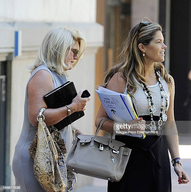 Cristina VallsTaberner and her mother Christina Muls are seen on June 22 2012 in Madrid Spain