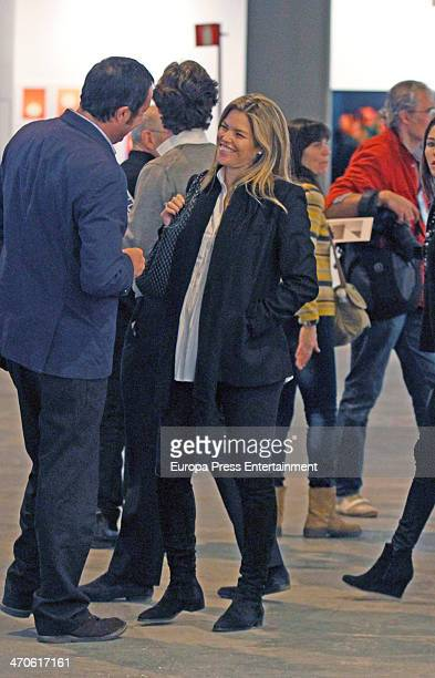 Cristina VallsTaberner is seen at ARCO Contemporary Art Fair at Ifema on February 19 2014 in Madrid Spain