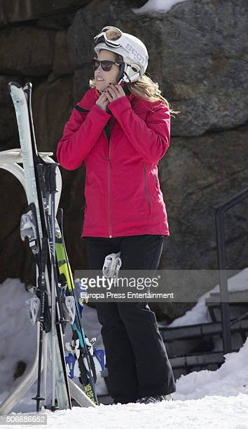 Cristina VallsTaberner is seen on January 23 2016 in Baqueira Beret Spain