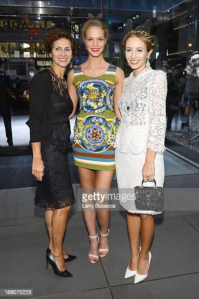 Cristina VieraNewton Erin Heatherton and Harley VieraNewton attend DolceGabbana along with Giovanna Battaglia celebrate the opening of the 5th Avenue...