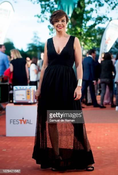 Cristina Villanueva attends the red carpet closing of FesTVal 2018 on September 8 2018 in VitoriaGasteiz Spain