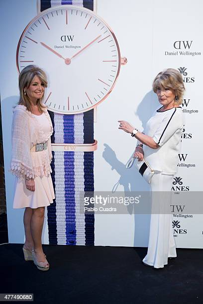 Cristina Yanes and Manuela Yanes attend the 'Daniel Wellington' presentation party at the Yanes Jewelry on June 17 2015 in Madrid Spain