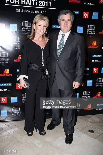 Cristina Yanes attends charity dinner for Haiti at Mirasierra Suite Hotel on March 28 2011 in Madrid Spain