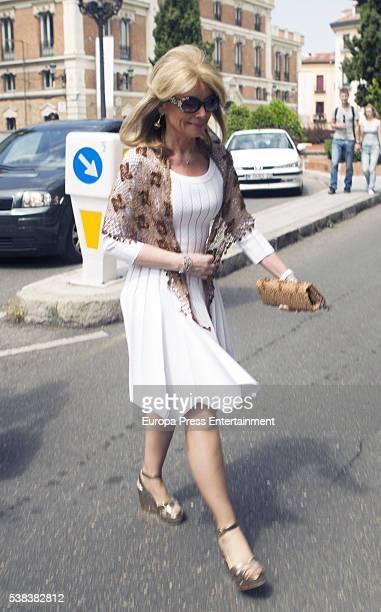 Cristina Yanes attends Eugenia de Borbon 's First Communion at Monasterio de las Descalzas Reales on June 4 2016 in Madrid Spain