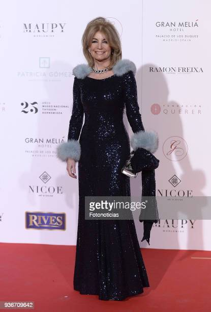 Cristina Yanes attends the III Global Gift Gala at the ThyssenBornemisza Musseum on March 22 2018 in Madrid Spain