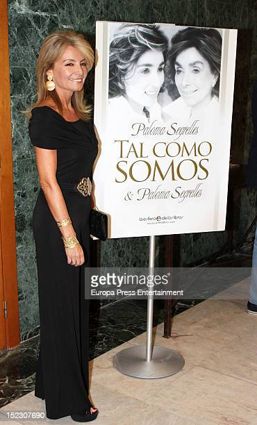 Cristina Yanes attends the presentation of the book 'Tal como somos' written by Paloma Segrelles and Paloma Segrelles jr on September 17 2012 in...