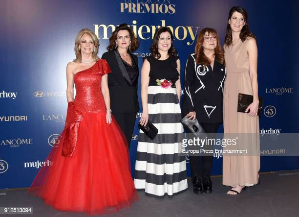 Cristina Yanes Laura Mugica Virginia Martinez Fernandez Isabel Coixet and Ruth Beitia attend 'VII Premios Mujer Hoy' at Casino on January 30 2018 in...