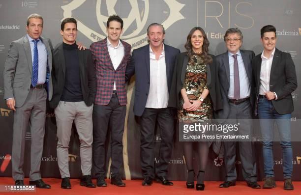 Cristobal Soria and Josep Pedrerol attend 'Iris Academia de Television' awards at Nuevo Teatro Alcala on November 18 2019 in Madrid Spain