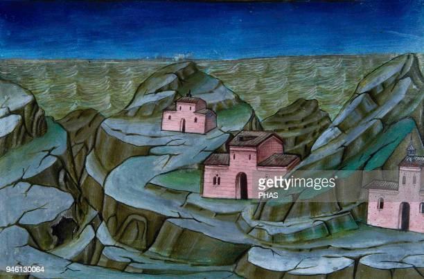 Cristofor de Premis Italian miniaturist The end of the World and Last Judgment The sea will rise Codex De Predis Royal Library Turin Italy