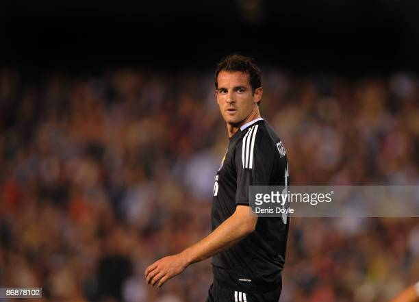 Cristoph Metzelder of Real Madrid during the La Liga match between Valencia and Real Madrid at the Mestalla stadium on May 9 2009 in Valencia Spain