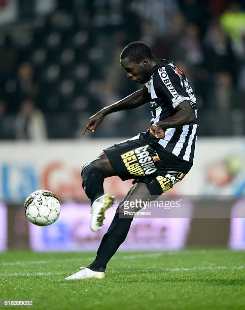 Cristophe Diandy midfielder of Sporting Charleroi scoring a goal pictured during Jupiler Pro League match between RCS Charleroi and KRC GENK on...