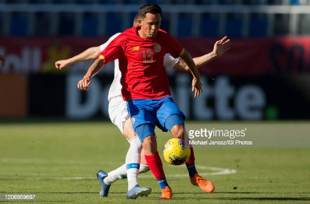 Cristopher Nunez of Costa Rica moves with the ball during a game between Costa Rica and USMNT at Dignity Health Sports Park on February 1 2020 in...