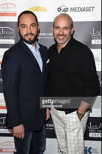 Cristriano De Masi and Alessandro Maria Ferreri attend Los Angeles Italia Closing Night Ceremony at TCL Chinese 6 Theatres on February 20 2015 in...