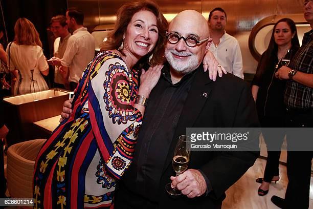 Cristy Perez and Michael De Chiara at the Angelo Bonati Celebrates SHoP Architects the Winner of the 2016 Panerai Design Miami Visionary Award on...