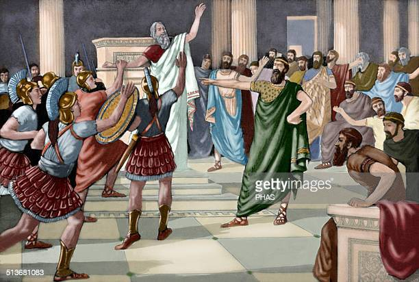 Critias Greek sophist One of the Thirty Tyrants Engraving Colored