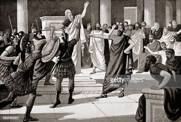 Critias Greek sophist One of the Thirty Tyrants Engraving