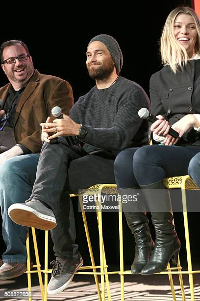 Critic Alan Sepinwall Actor Antony Starr and Actress Ivana Milicevic speak at the 'Banshee' event during aTVfest 2016 presented by SCAD on February 6...
