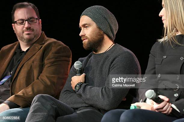 Critic Alan Sepinwall Actor Antony Starr and Actress Ivana Milicevic speak at the Banshee event during aTVfest 2016 presented by SCAD on February 6...