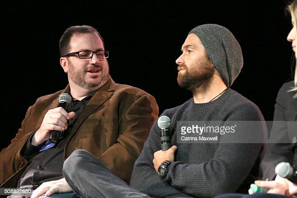 Critic Alan Sepinwall and Actor Antony Starr speak at the Banshee event during aTVfest 2016 presented by SCAD on February 6 2016 in Atlanta Georgia