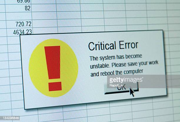 critical error - error message stock pictures, royalty-free photos & images