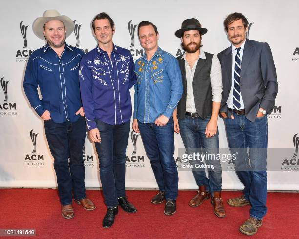 Critter Fuqua Ketch Secor Morgan Jahnig Joe Andrews and Cory Younts of Old Crow Medicine Show attend the 12th Annual ACM Honors at Ryman Auditorium...