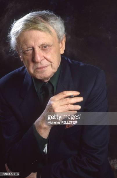 L'écrivain britannique Anthony Burgess à Paris le 17 octobre 1987 France