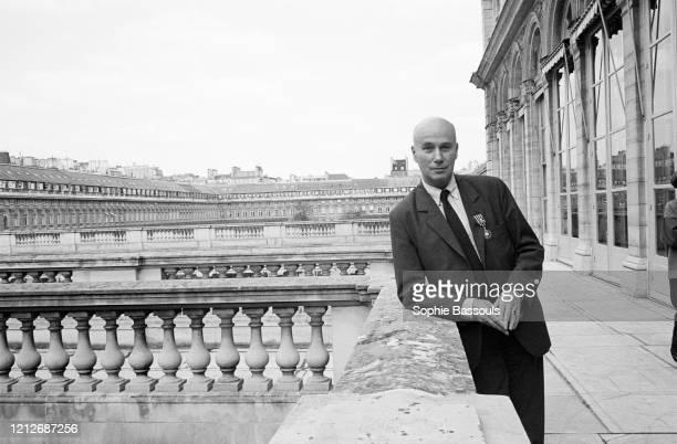 écrivain français Gabriel Matzneff lors de la remise de décoration des arts et des lettres à Paris